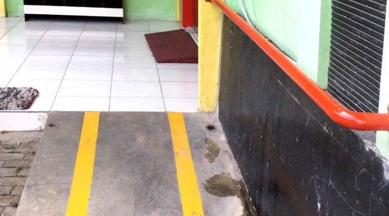 Jalan khusus untuk Dishabilitas di kecamatam Sukomoro